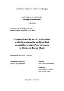 Essays on Identity Social Construction ...