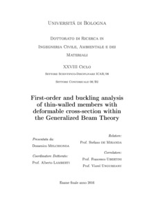 First-Order and Buckling Analysis of Thin-Walled Members